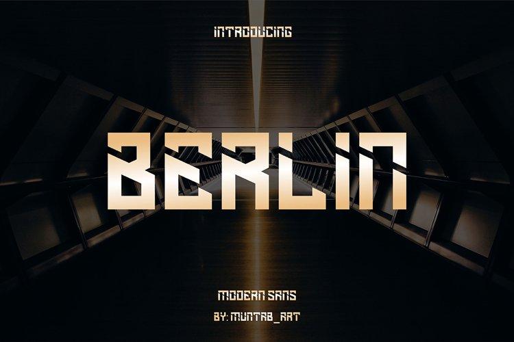 Berlin   Modern Sans example image 1