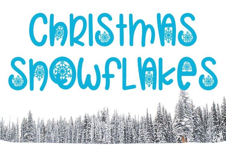 Christmas Snowflakes Font