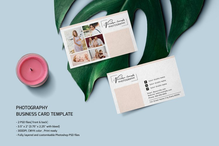 Photographer Business Card Template example image 1