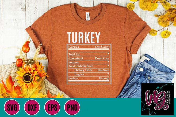 Holiday Food Funny Turkey SVG, DXF, PNG, EPS