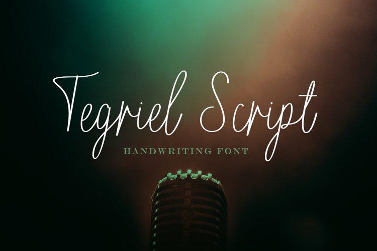 Tegriel Script example image 1