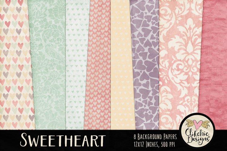 Shabby Damask Sweetheart Background Textures example image 1