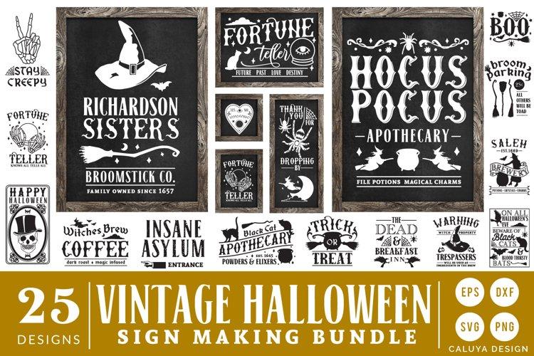 Vintage Halloween Sign Making SVG Bundle example image 1