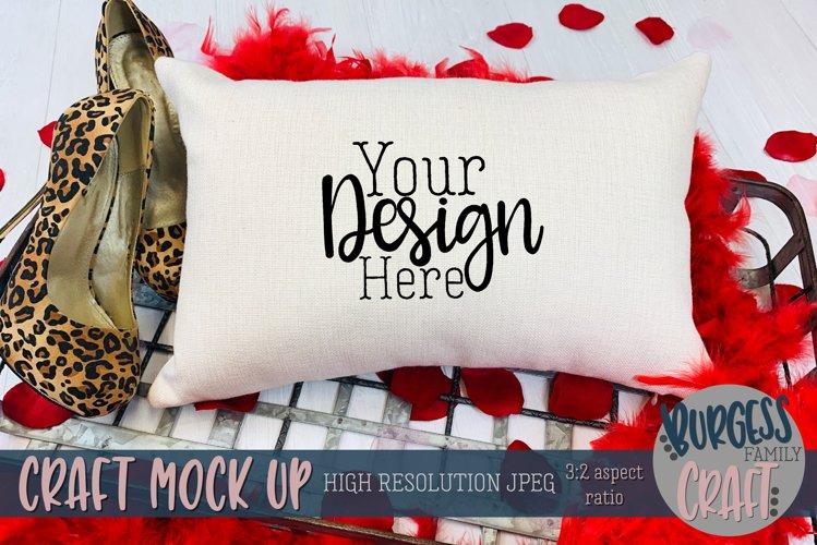 Valentine 12x18 pillow leopard print Craft mock up