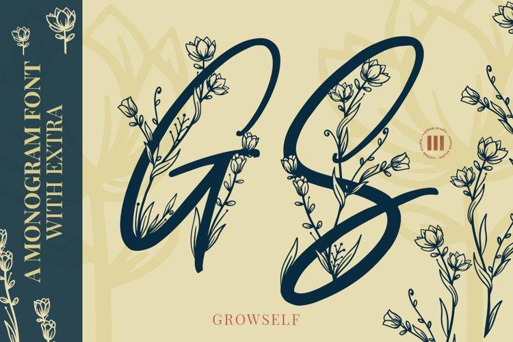 Growself Monogram Font example image 1