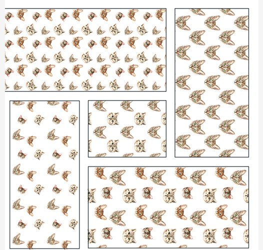 Cat watercolor patterns  - Free Design of The Week Design12