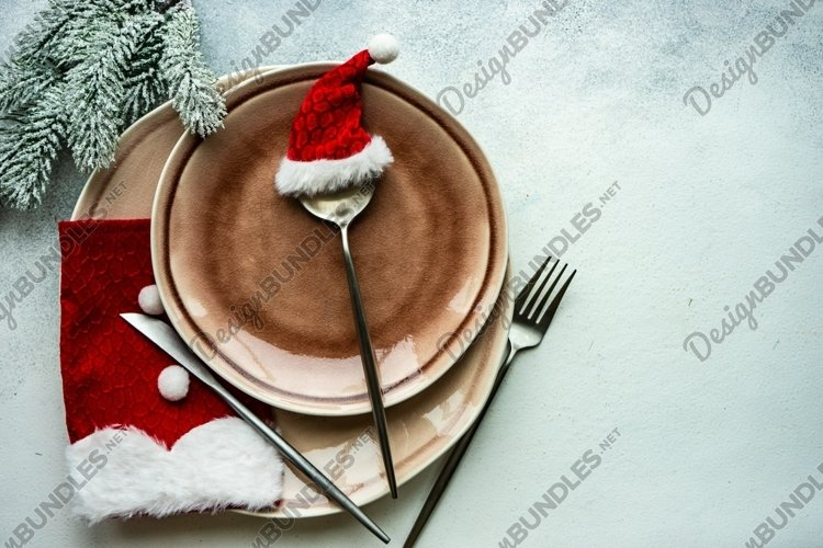 Festive Christmas card concept with star shaped decor example image 1
