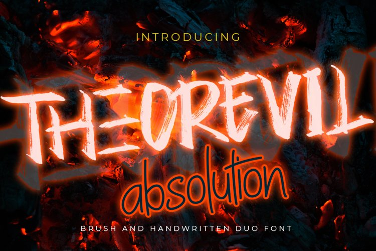 Theorevil Absolution | Handwritten Font Duo example image 1