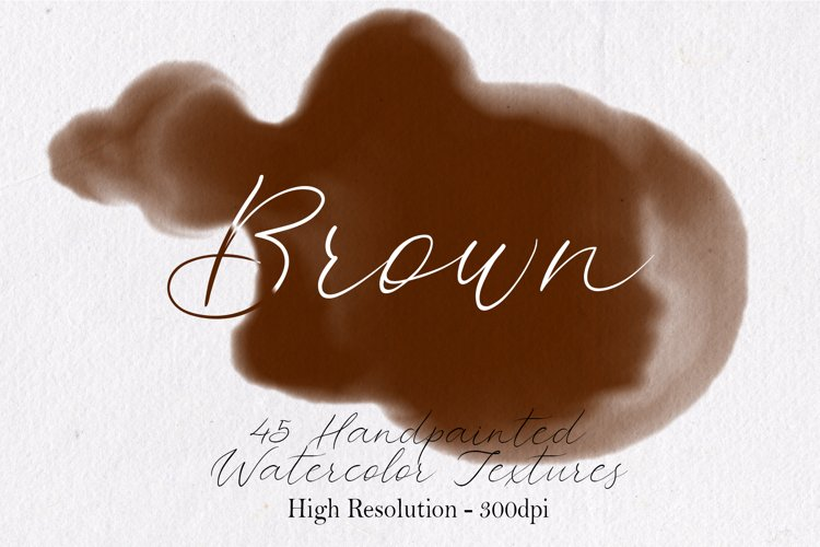 Brown - 45 Watercolor Textures example image 1
