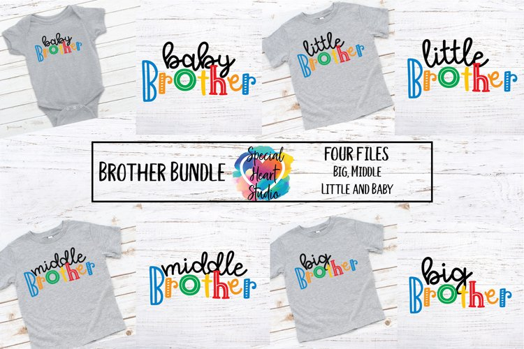 Brother Bundle - A set of brother sibling SVG designs example image 1