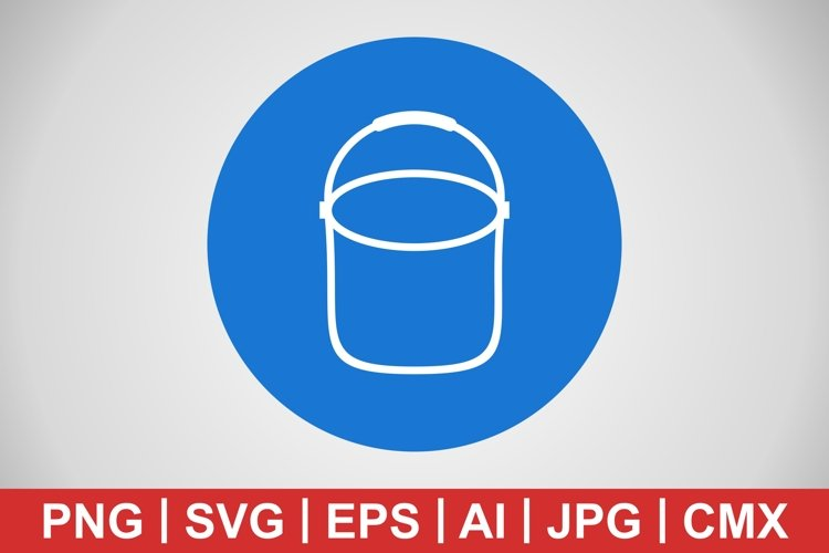 Vector Pail Icon example image 1