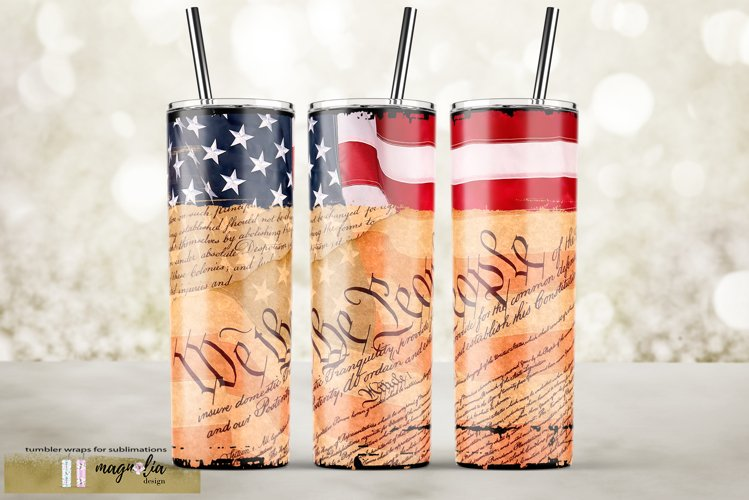 We the people sublimation tumbler design USA flag png example image 1