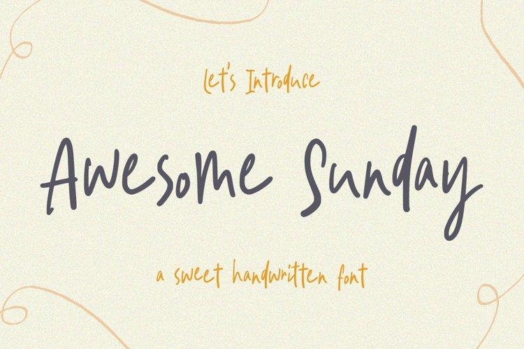 Sweet Handwritten Font - Awesome Sunday example image 1