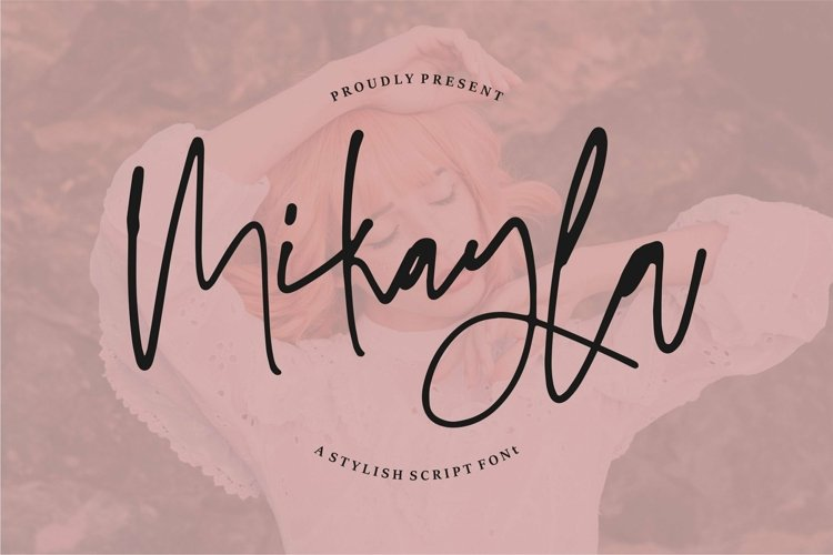 Web Font Mikayla - A Stylish Script Font example image 1