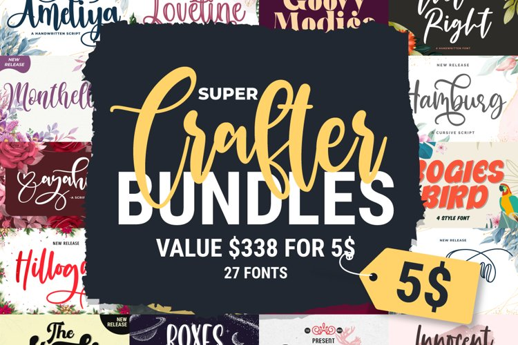 Super Crafter Bundles | 27 Fonts Collections example image 1