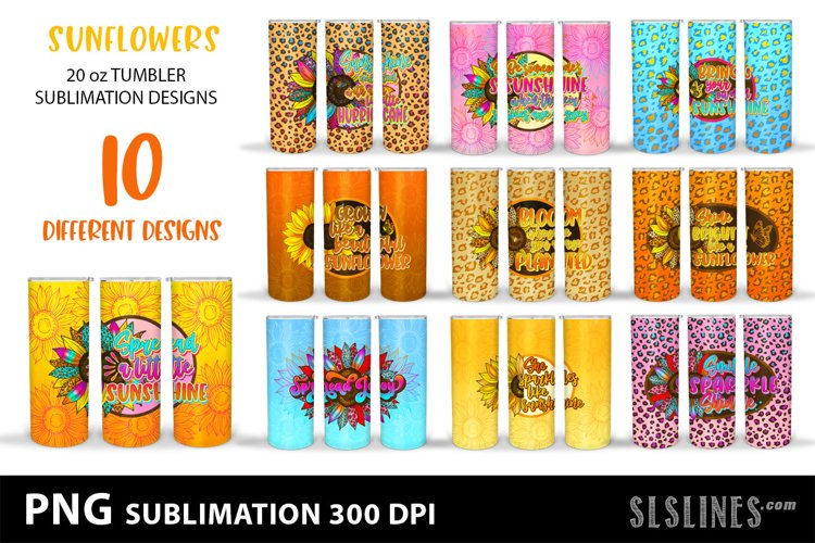 Tumbler Sublimation Bundle - Sunflowers Quotes