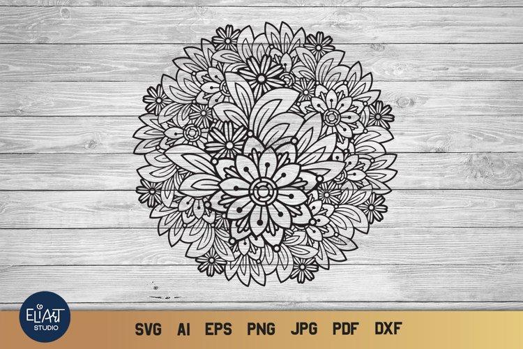 Floral Mandala SVG | Summer SVG | Zentangle Flowers