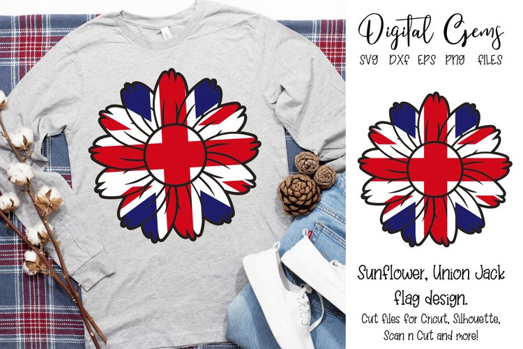 Union Jack sunflower flag SVG / DXF / PNG / EPS