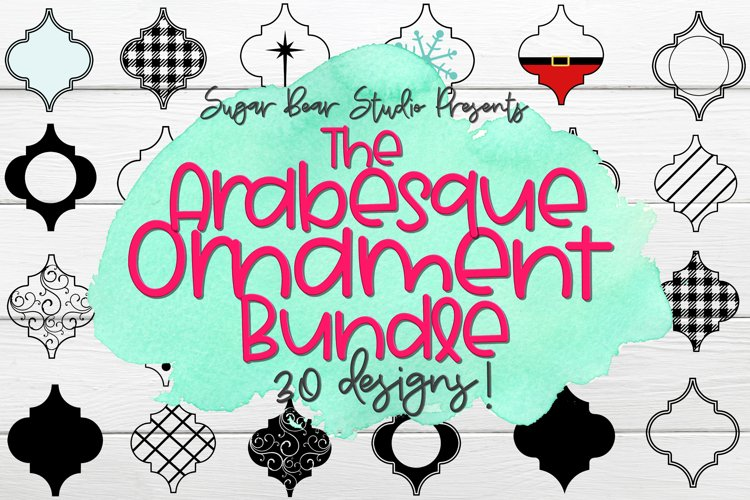 Arabesque Tile Ornament Bundle - 30 Arabesque Ornament SVGs example image 1