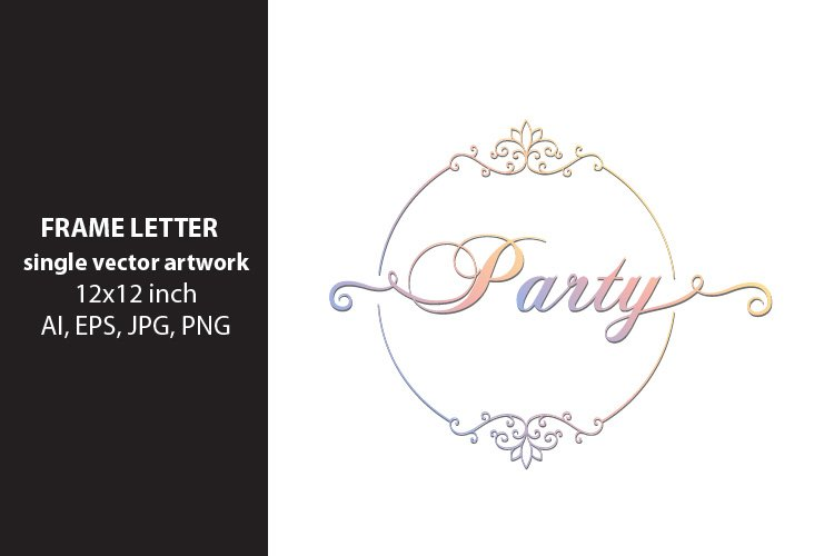 Party - single vector artwork example image 1