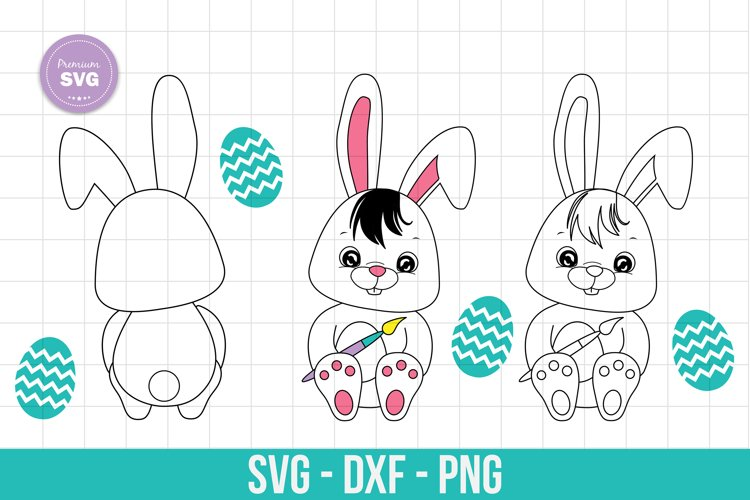Easter bunny svg, Easter cut files