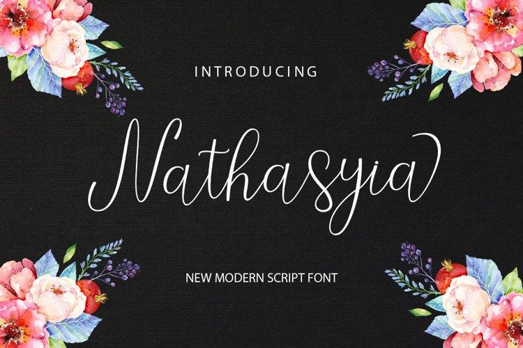 Nathasyia script example image 1
