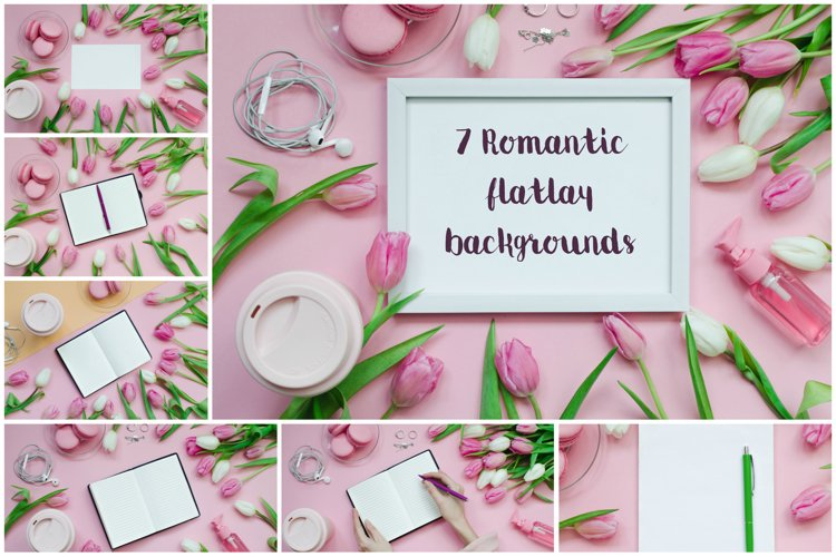 7 Romantic flatlay backrounds pack! example image 1