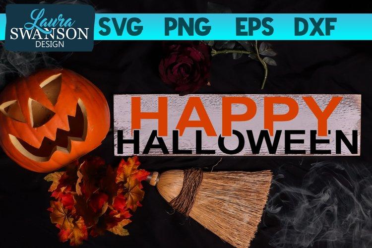 Happy Halloween SVG Cut File | Interlocking Letters SVG