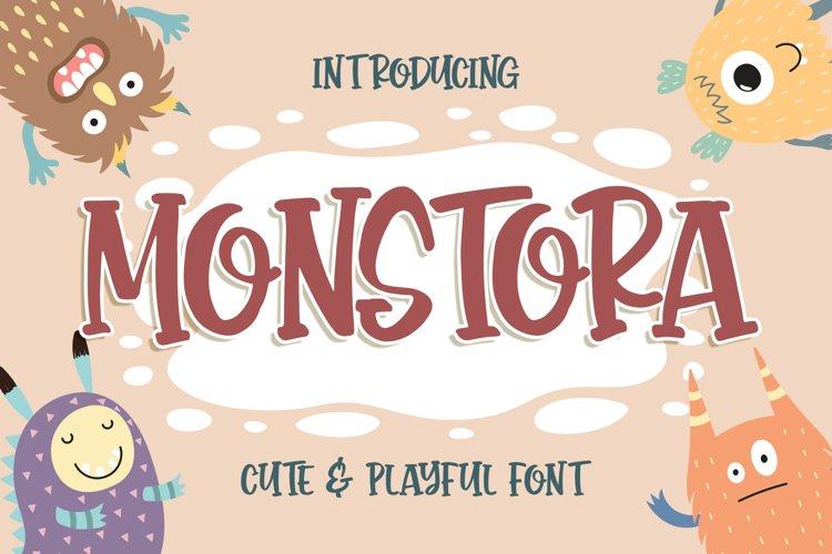 Monstora Cute & Playful Font example image 1