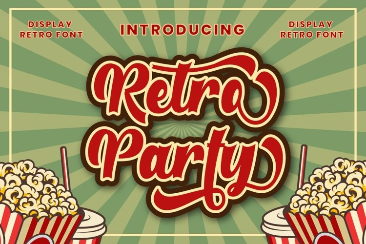 Retro Party - Display Retro Font example image 1