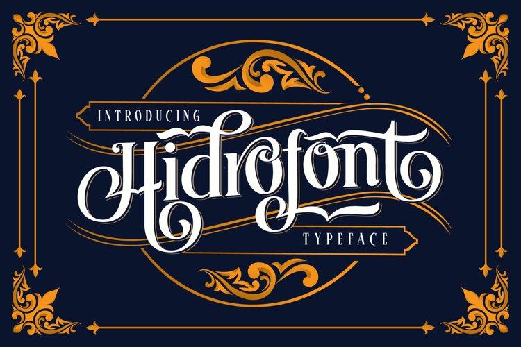 Hidrofont
