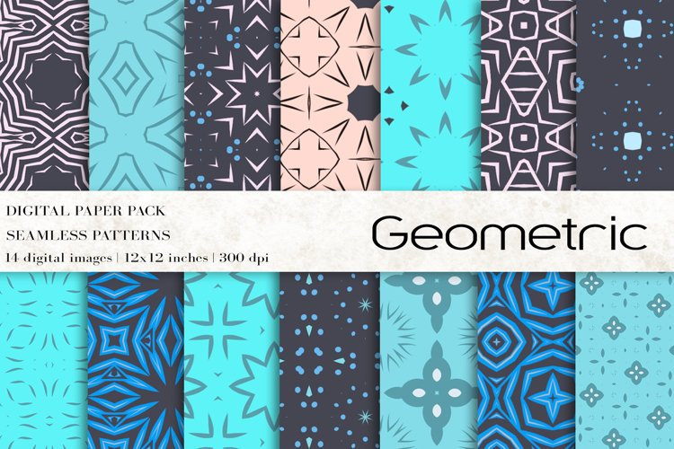 Geometric Digital Papers example image 1