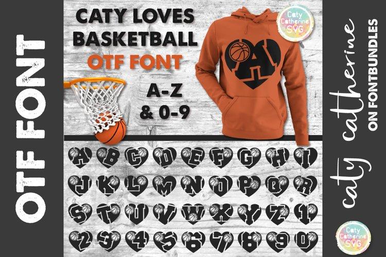 Caty Loves Basketball Love Heart OTF Font A-Z & 0-9
