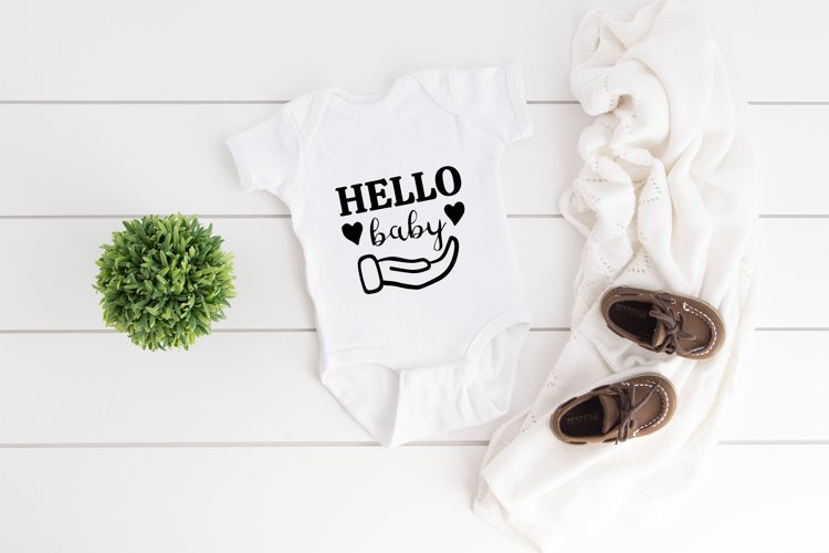 Hello Baby Onesie, Funny Quote SVG files for Cricut ...