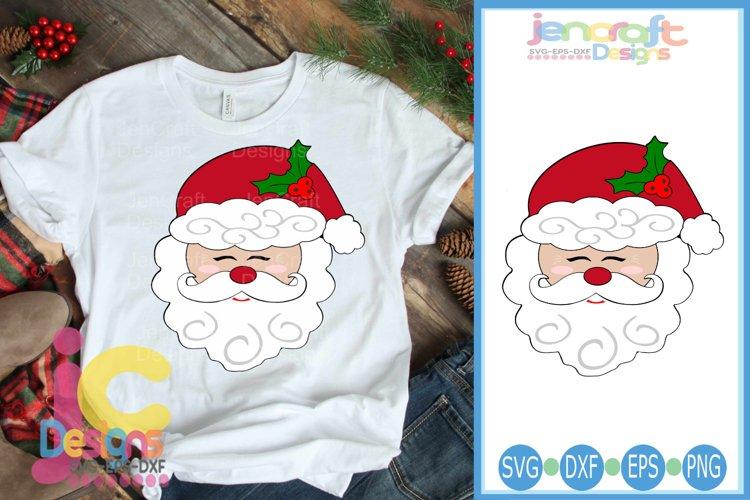 Santa Claus Svg, Christmas Santa Face Svg, Christmas Svg example image 1