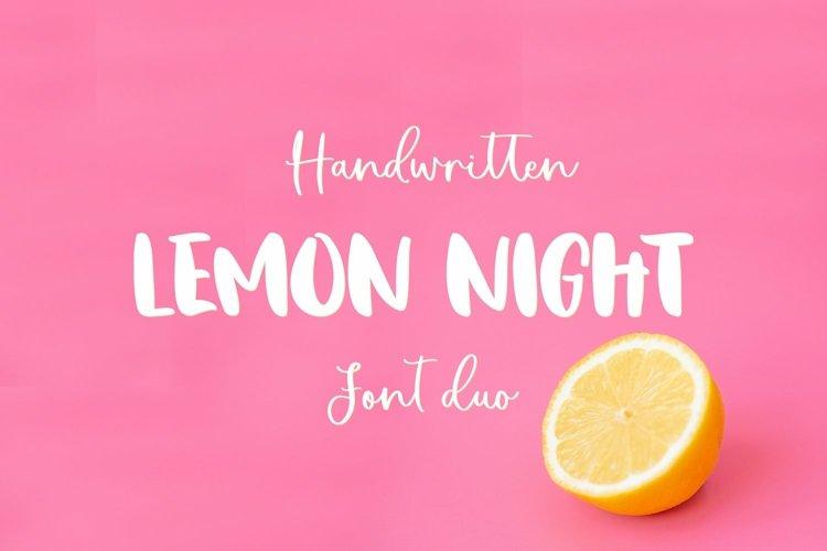 Web Font Lemon Night Font Duo example image 1