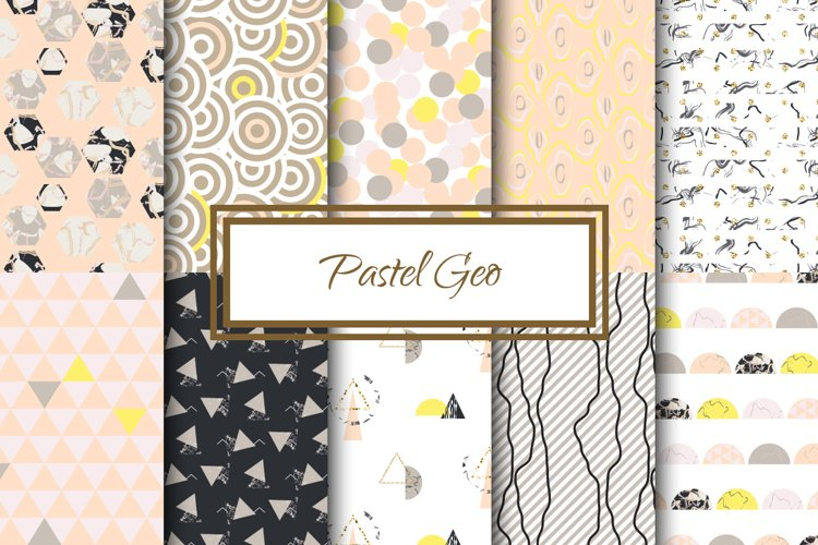 Pastel Geometric Patterns example image 1