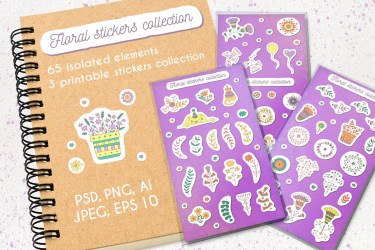 Floral stickers collection example image 1