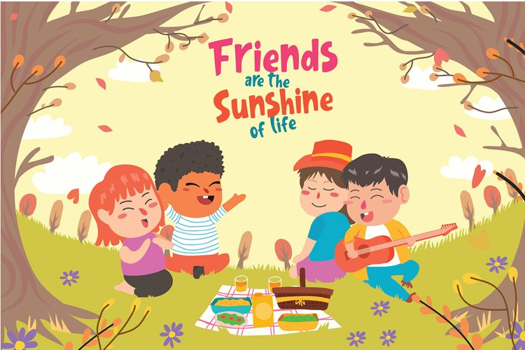 Picnic Best Friends - Vector Illustration example image 1