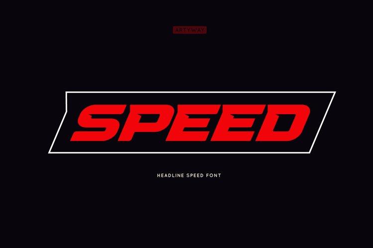 Headline Speed Font example image 1