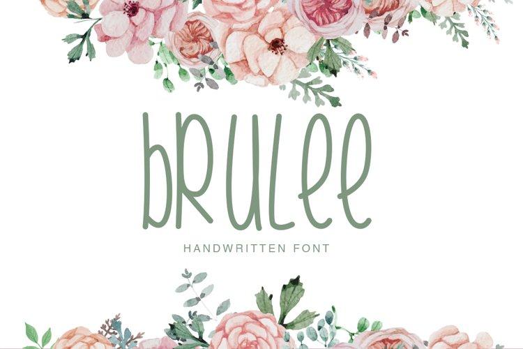 Brulee Font example image 1