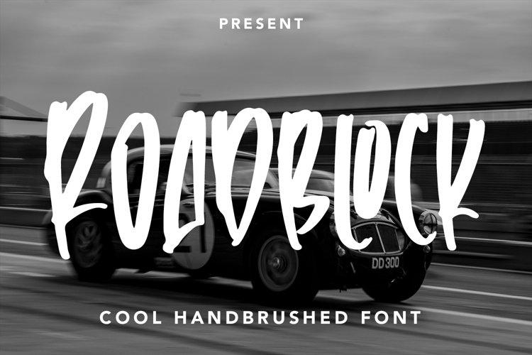 Roadblock - Handbrushed Font example image 1