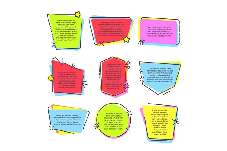 Mention Quotation Template In Frame Quotes Vector