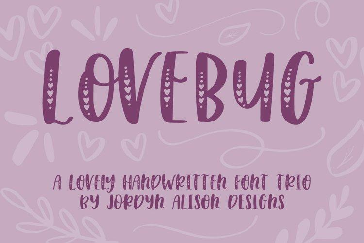 Lovebug Hand Lettered Font Trio, Valentine's Heart Font example image 1