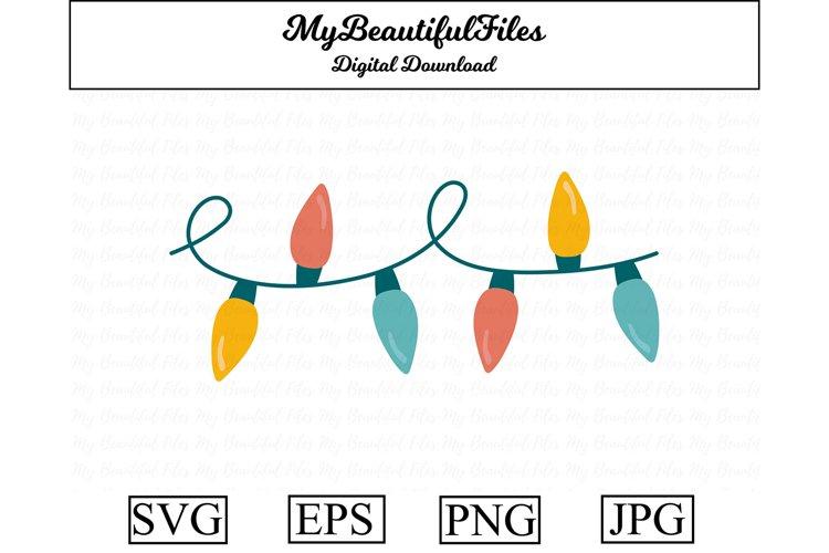 Christmas Lights SVG - Cute Christmas SVG, EPS, PNG and JPG