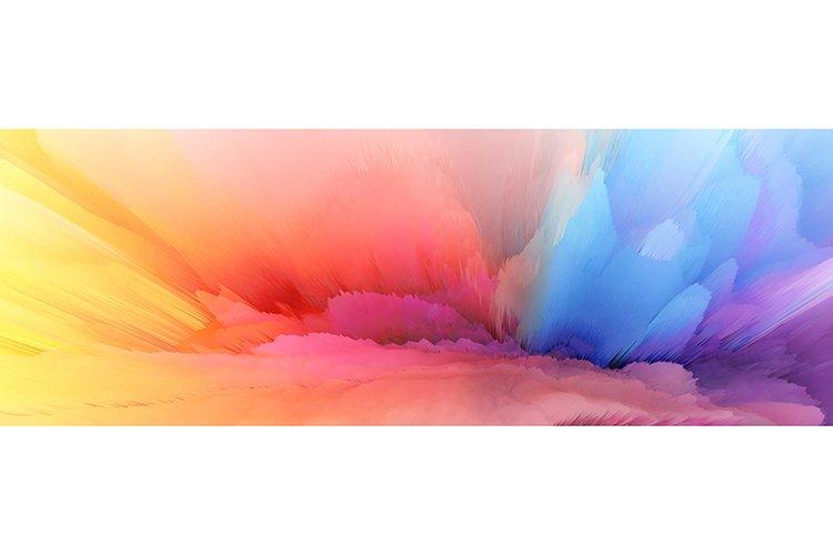 Color rainbow blot splash. Abstract horizontal background