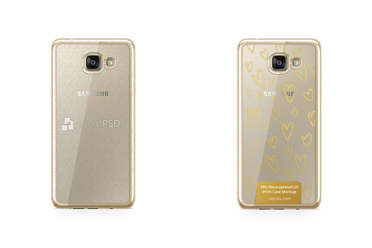 Samsung Galaxy A5 2016 TPU Electroplated Case Mock-up example image 1