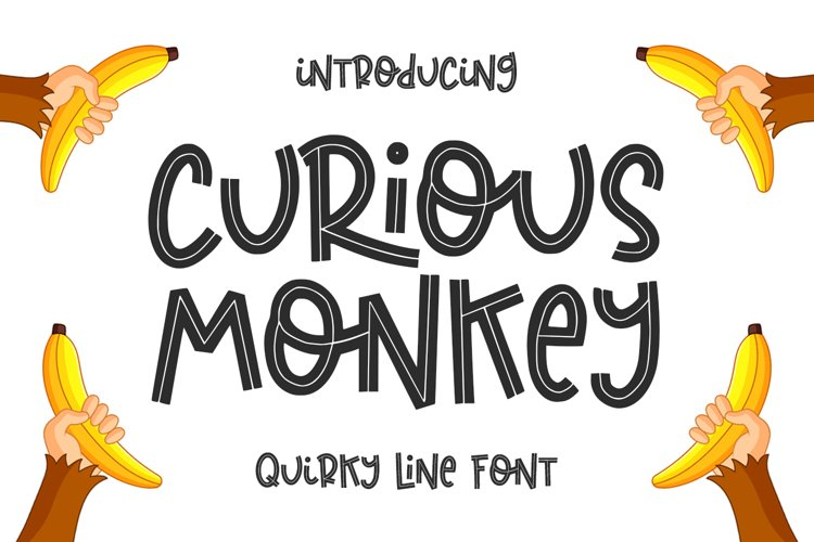 Curious Monkey -Quirky Line- example image 1