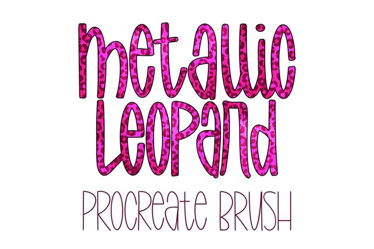 Metallic Leopard Procreate Brush example image 1