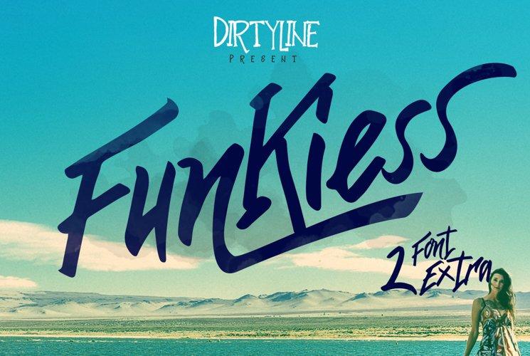 Funkiess - Display Typeface + Bonus example image 1